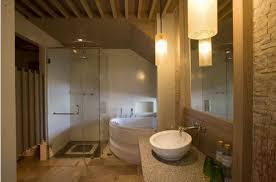 basement bathroom with chair rail basement bathroom gallery basement bathroom with corner walk in shower and spa tub basement bathroom in bathroom category