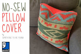 No Sew Project How To - something to be found no sew pillow cover goodwill project 23