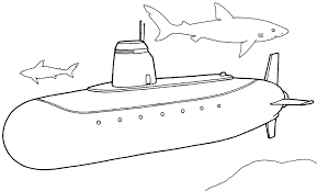 trend submarine coloring pages kids book 6713 unknown
