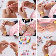 diy necklace making images 1box mixed kids multicolor wood beads for diy jewelry making fit jpg