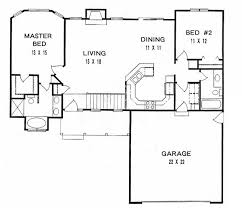 2 bedroom ranch floor plans 2 bedroom bath single house plans escortsea