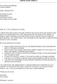 sample cover letter for cashier cover letter for cashier in bank