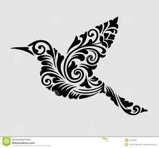 flying bird floral ornament decoration stock vector image 40912986