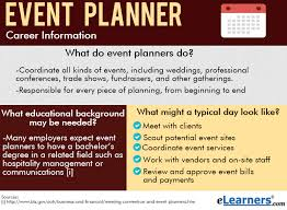 how to become a party planner what do event planners do elearners