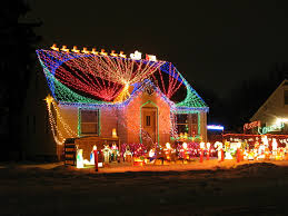 decorations great led light decoration on roof with glowing