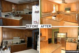 Budget Kitchen Makeovers Before And After - refurbished kitchen cabinets before and after best home