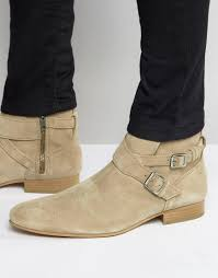 lyst house of hounds suede jodphur boots in natural for men