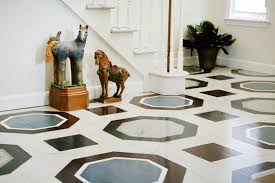 faux marble painted floors apartment therapy