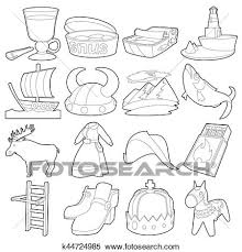 travel symbols images Stock illustration of sweden travel symbols icons set outline jpg