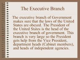 Us Cabinet Agencies Governance And Civics The 3 Branches Of The U S Government Ppt