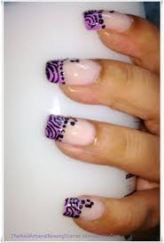 soft stripes in lavender french nail art the nail art and beauty
