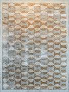 Organic Wool Rug Diamond Hand Knotted Viscose And Wool Rug Contemporary Patterned