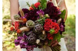 Red Wedding Bouquets Dark Romantic Wedding Flowers Purple And Red Bridal Bouquet
