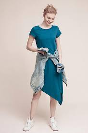 cecily t shirt dress turquoise anthropologie
