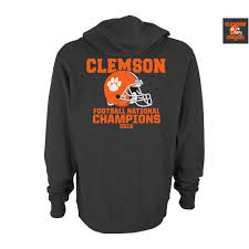 Clemson Flags Clemson Tigers 2016 National Champions Hooded Sweatshirt Charcoal