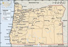 oregon map with cities oregon cities students britannica homework help