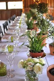 Topiaries Wedding - table decor centerpieces were a mix of 2 ball eugenia topiaries