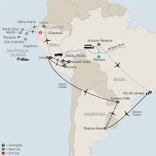 South America Rivers Map by Central U0026 South America Tours Globus Escorted Travel