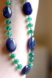 sapphire bead necklace images Julius cohen sapphire and emerald bead necklace for sale at 1stdibs jpg
