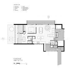 Floor Plan Of A Bedroom Floor Plan Of La Luge A Modern Ski Cabin By Yiacouvakis Hamelin