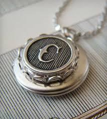Monogram Locket Necklace Custom Monogram Locket U2013 Silver Jewelry Necklaces The Weekend