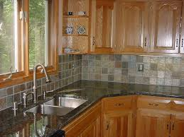 kitchen counter backsplash design ideas with wooden storage 5859