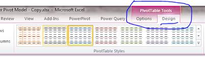 table tools design tab how to change the layout of the excel pivot tables insight