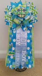 custom baby shower corsage its a boy blue green golf tee theme