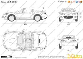 mazda line the blueprints com vector drawing mazda mx 5