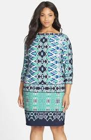 eliza j print jersey shift dress plus size available at