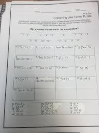 combining like terms practice worksheet free worksheets library