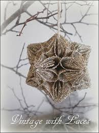 gift wrapping and a handmade paper glitter ornament