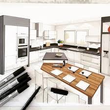 plan cuisine ouverte sur salon remarquable intérieur disposition en ce qui concerne plan cuisine