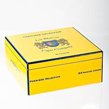 Yellow Decorative Box Decorative Humidor Style Cedar Box Blanco Cigar Company