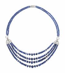 sapphire bead necklace images Art d co sapphire and diamond bead necklace cartier jewelry jpg