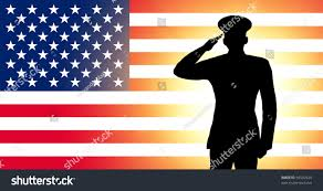 Picture Of The Us Flag Usa Flag Silhouette Soldiers Military Salute Stockillustration