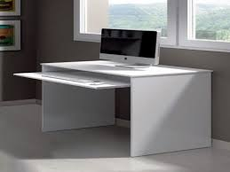 White Small Computer Desk Desk Large Desk With Drawers Compact Wood Computer Desk Small