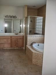 Oak Bathroom Vanity Cabinets by Flooring Elegant Bathroom Design With American Olean Backsplash