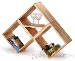 Modern Furniture Woodworking Plans by Bookshelf And Wine Rack Plan Furniture Plans And Projects