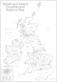 map uk and irelandmap uk counties large britain and ireland counties and regions colouring map