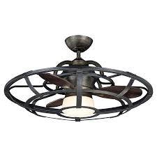 Low Profile Ceiling Lighting Fancy Low Profile Ceiling Fan With Light Caged Fan In Reclaimed