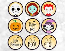 nightmare before christmas cupcake toppers cupcake wars invite etsy