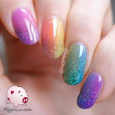 gel nail design for summer attractive blue gel nails art for s in