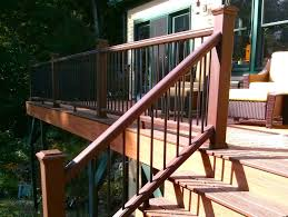 Exterior Stair Railing by How To Build A Deck Stair Railing The Spokesman Review