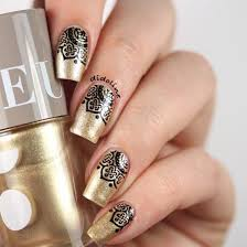 top 50 golden wedding nail designs nail design ideaz