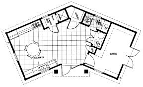floor plan for small house with pool