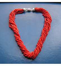 coral necklace images Rare red coral necklace round beads italy made 19th ball 3 5mm jpg