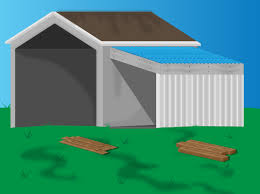 How To Build A Wood Floor With Pole Barn Construction by 6 Ways To Add A Lean To Onto A Shed Wikihow