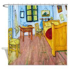 van gogh bedroom painting van gogh shower curtains stunning art in your bathroom
