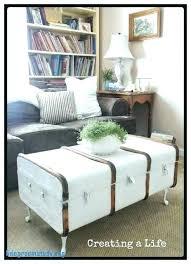 trunk coffee table diy trunk as coffee table old trunk coffee table diy simplysami co